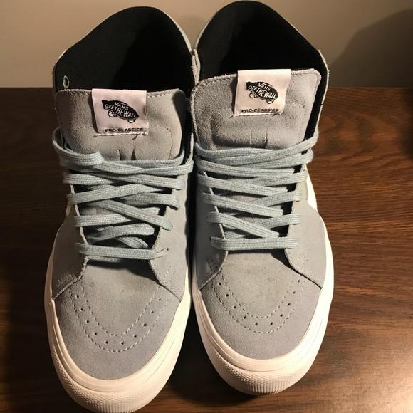 5d82aa86a9b3e2 VANS SK8- Hi Pro (Blue Fog) Men s Skate Shoes. M 5b1d3f3ea31c331a7c24ccff